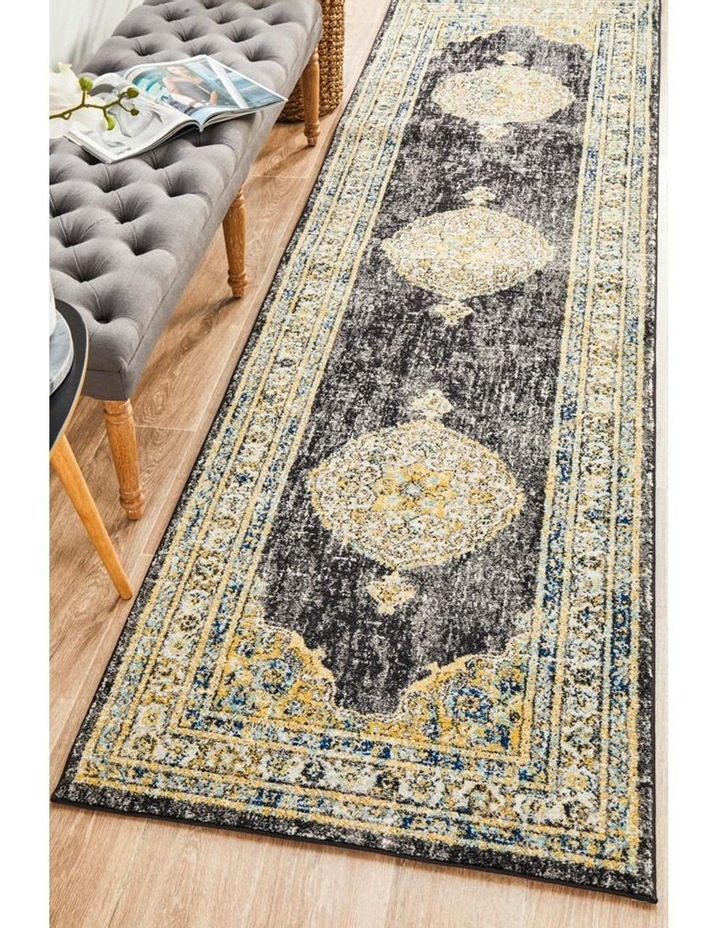 Century 955 Charcoal Runner Rug image 7