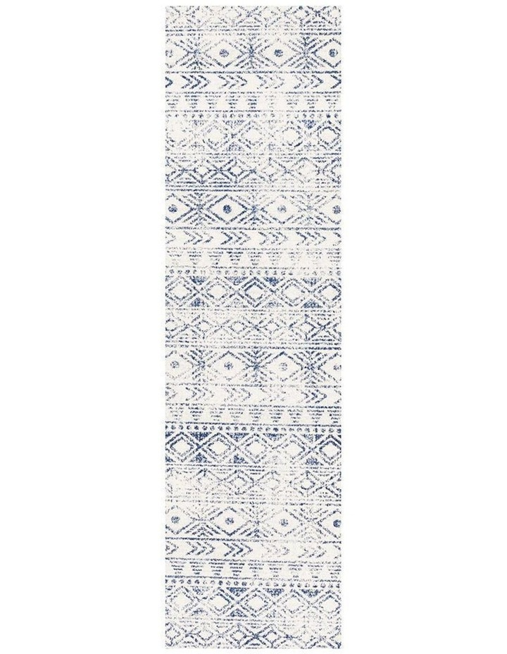 Oasis Ismail White Blue Rustic Rug image 1