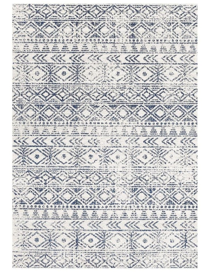 Oasis Ismail White Blue Rustic Rug image 2