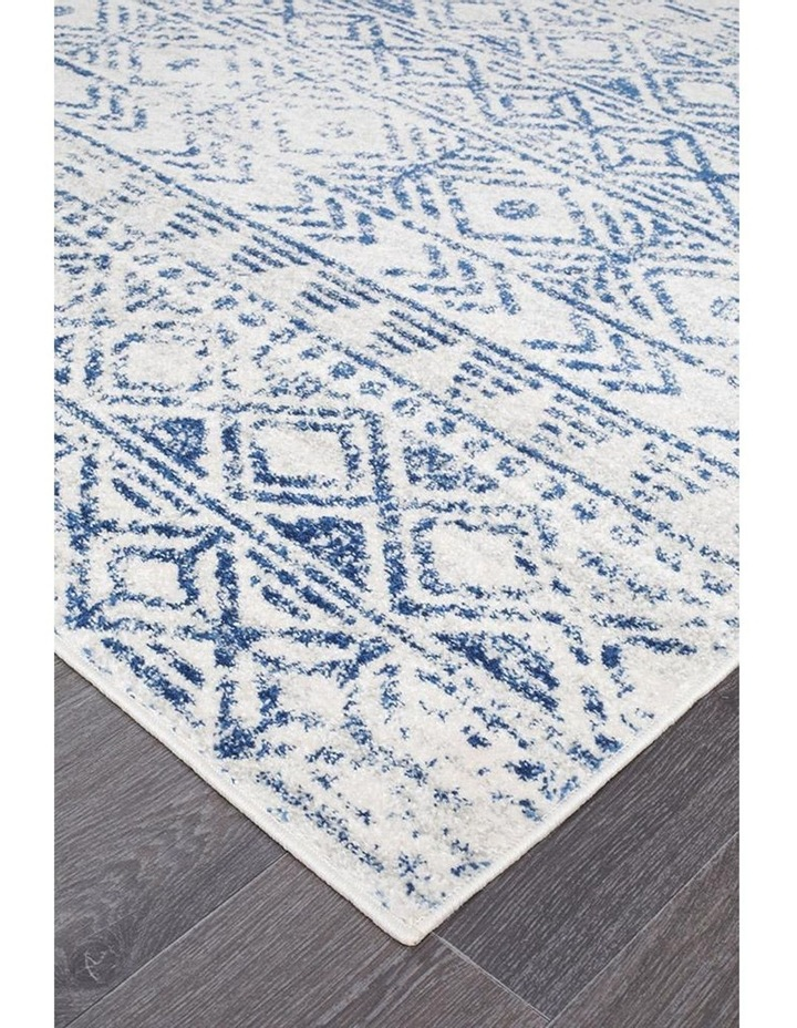 Oasis Ismail White Blue Rustic Rug image 3