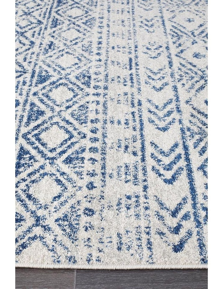 Oasis Ismail White Blue Rustic Rug image 4