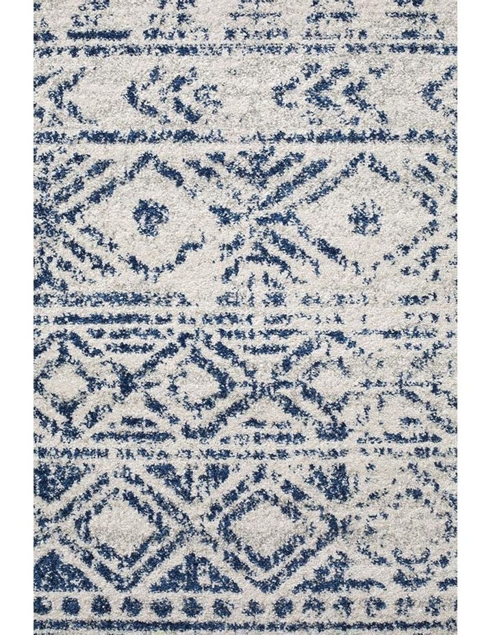 Oasis Ismail White Blue Rustic Rug image 5