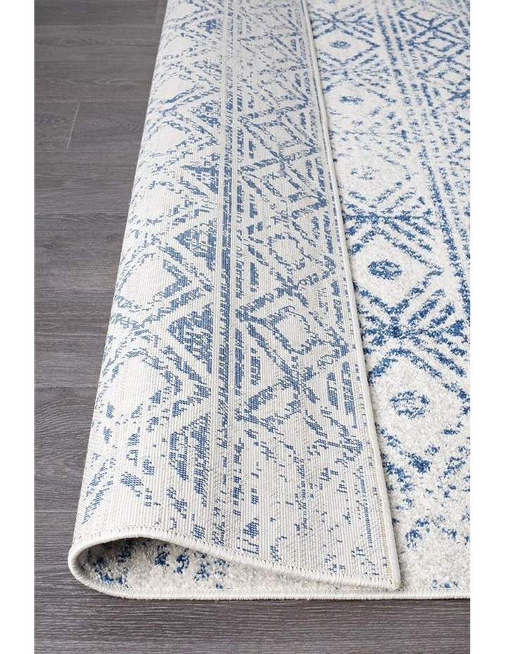 Oasis Ismail White Blue Rustic Rug image 6