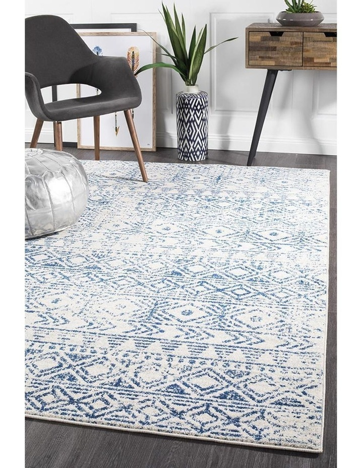 Oasis Ismail White Blue Rustic Rug image 7