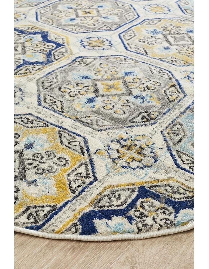 Babylon 204 Blue  Round Rug image 2