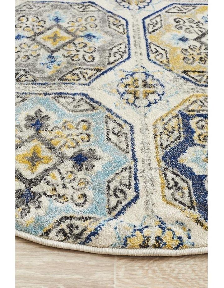 Babylon 204 Blue  Round Rug image 4
