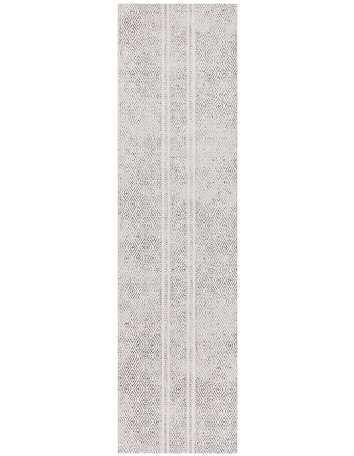 Oasis Salma White And Grey Tribal Rug image 1
