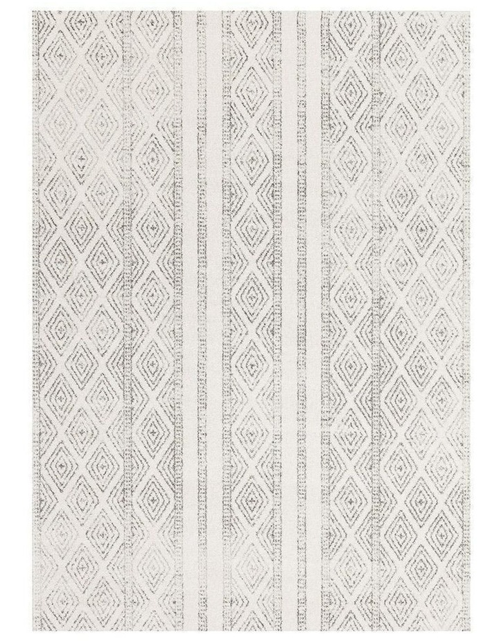 Oasis Salma White And Grey Tribal Rug image 2