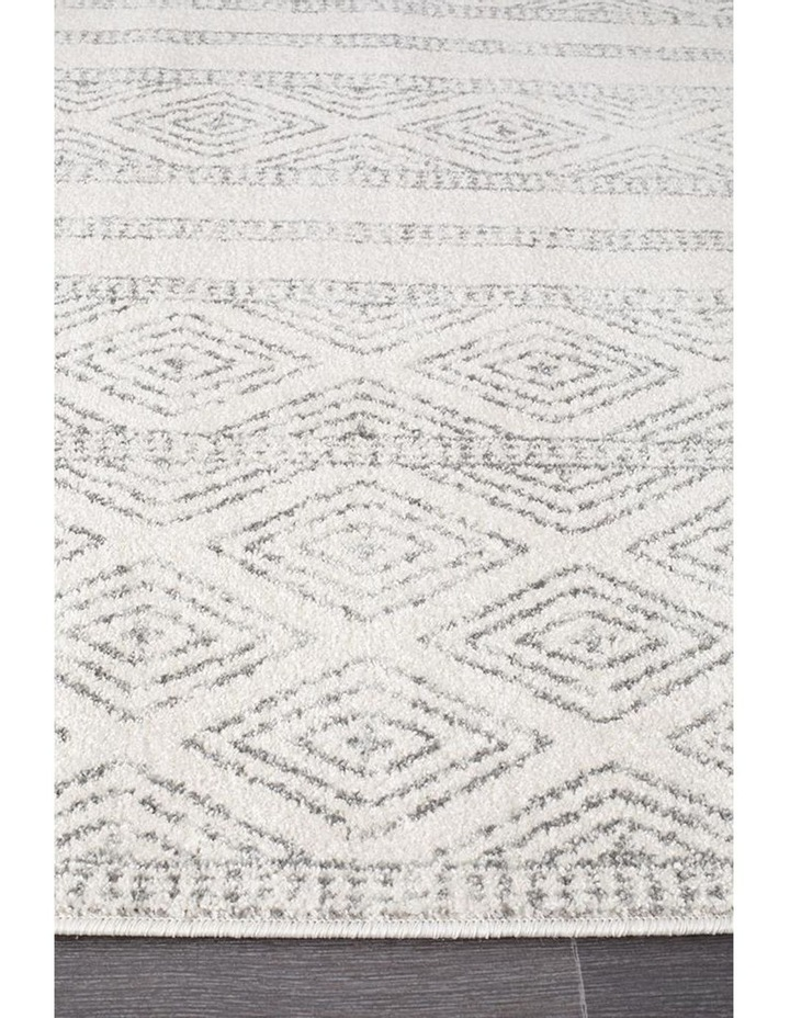 Oasis Salma White And Grey Tribal Rug image 4