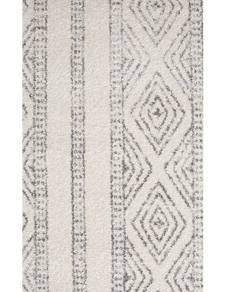 Oasis Salma White And Grey Tribal Rug image 5