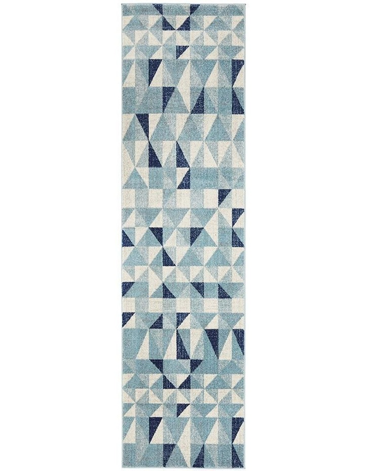 Mirage Illusion Modern Geo Blue Ivory Rug image 1