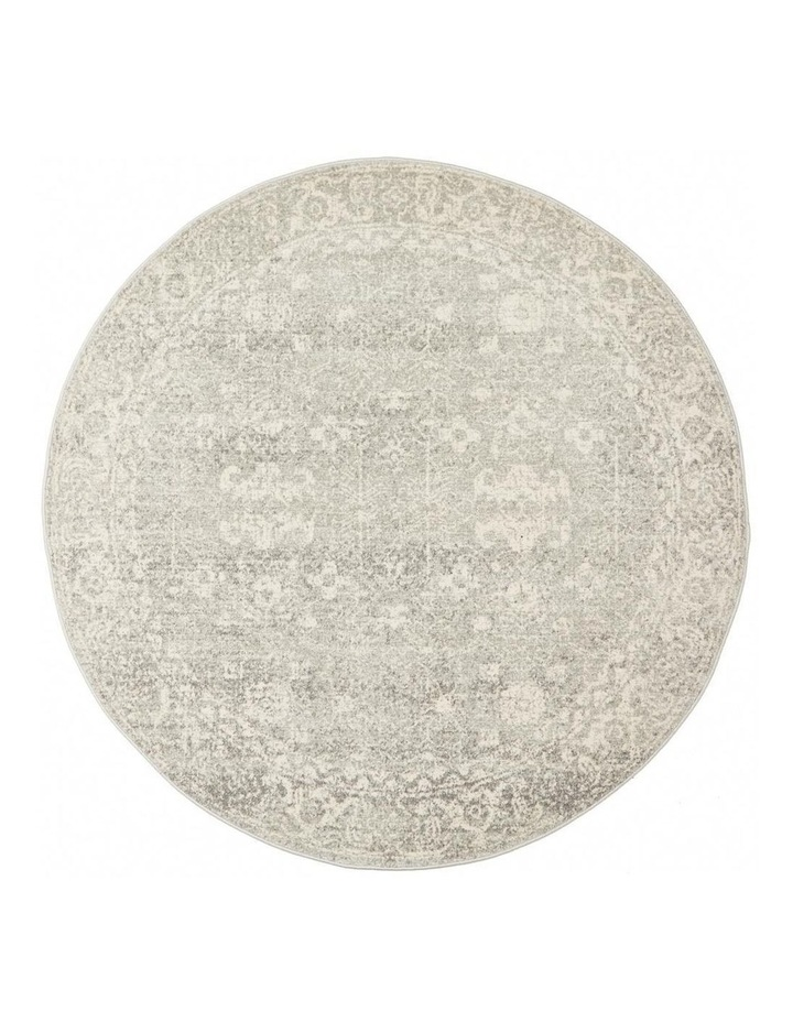 Evoke Shine Silver Transitional Round Rug image 1