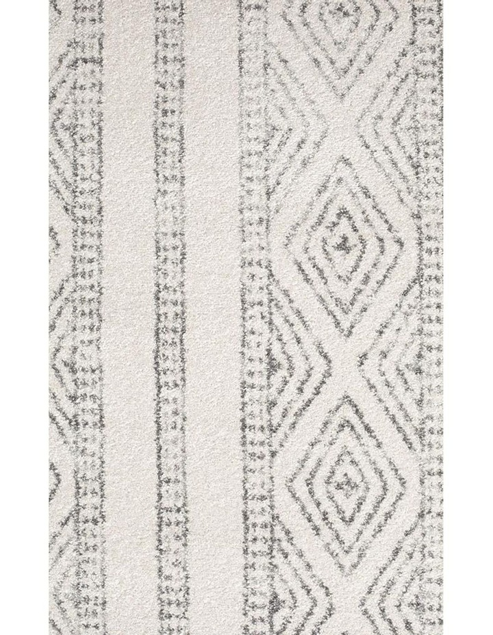 Oasis Salma White And Grey Tribal Round Rug image 3