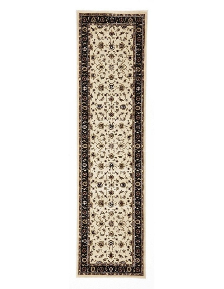 Sydney Collection Classic Rug Ivory with Black Border image 1