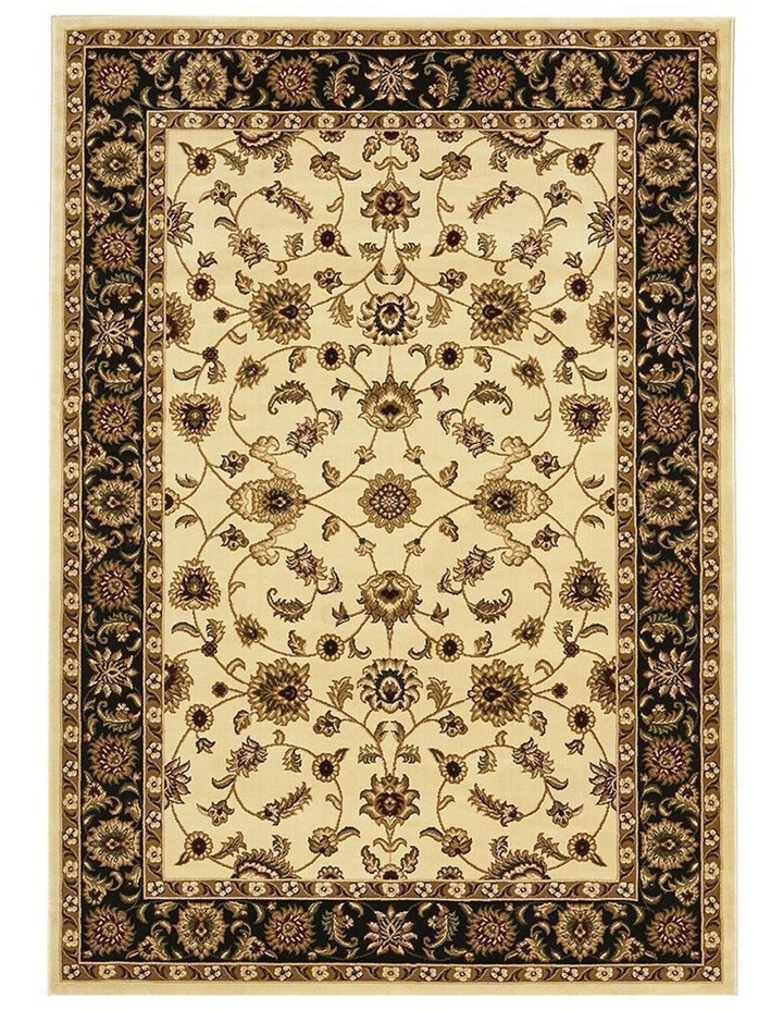 Sydney Collection Classic Rug Ivory with Black Border image 4