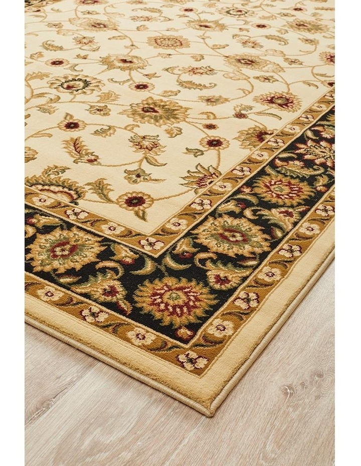 Sydney Collection Classic Rug Ivory with Black Border image 5