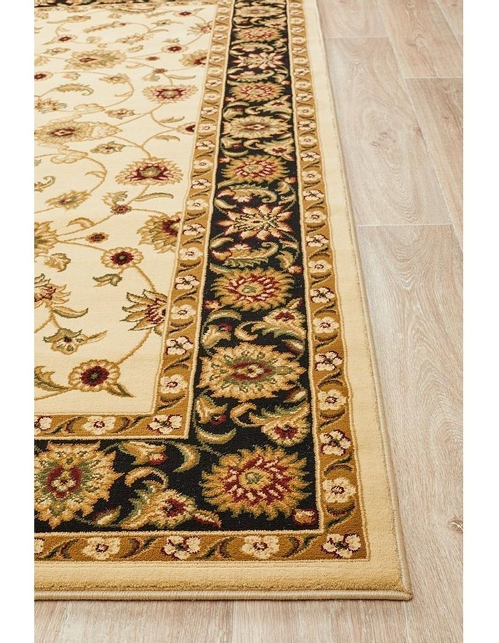Sydney Collection Classic Rug Ivory with Black Border image 6