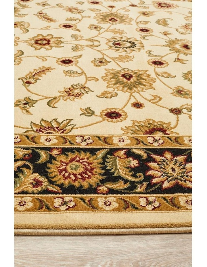 Sydney Collection Classic Rug Ivory with Black Border image 7