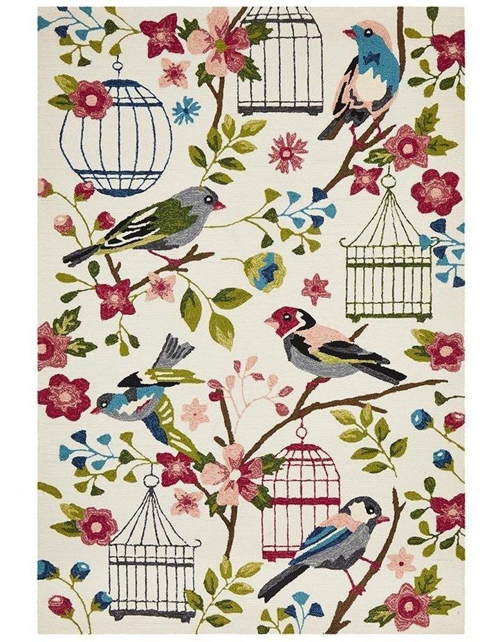 Copacabana Finch and Nest Exquisite Indoor Outdoor Rug Cream image 1