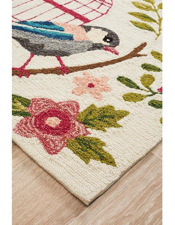 Copacabana Finch and Nest Exquisite Indoor Outdoor Rug Cream image 2
