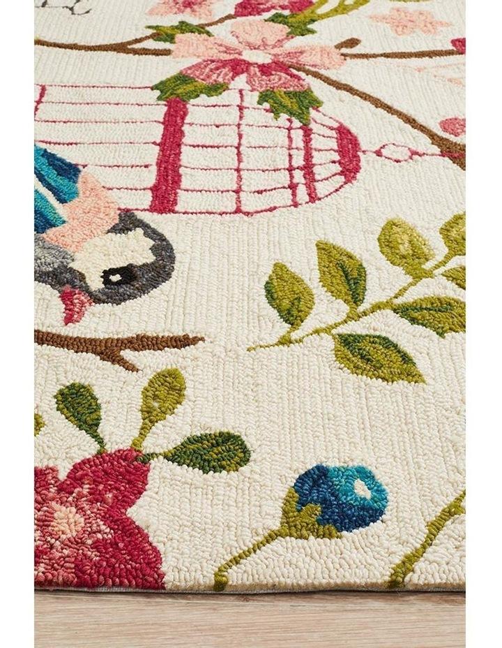 Copacabana Finch and Nest Exquisite Indoor Outdoor Rug Cream image 4