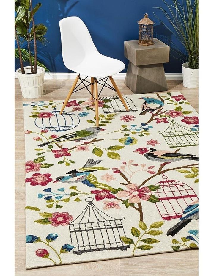 Copacabana Finch and Nest Exquisite Indoor Outdoor Rug Cream image 7