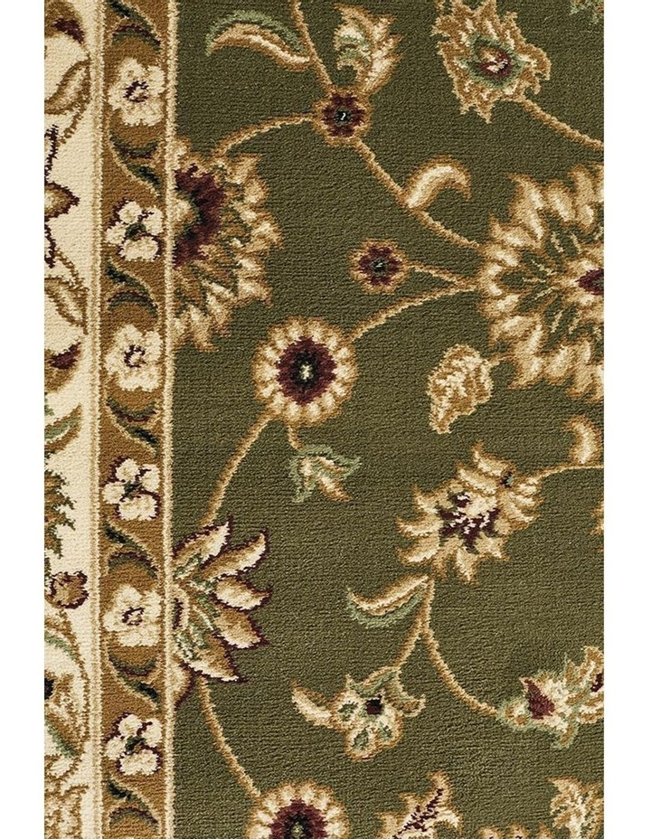 Sydney Collection Classic Rug Green with Ivory Border image 2