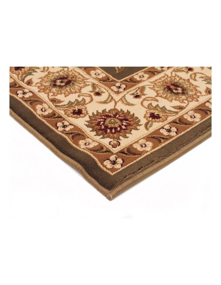 Sydney Collection Classic Rug Green with Ivory Border image 3