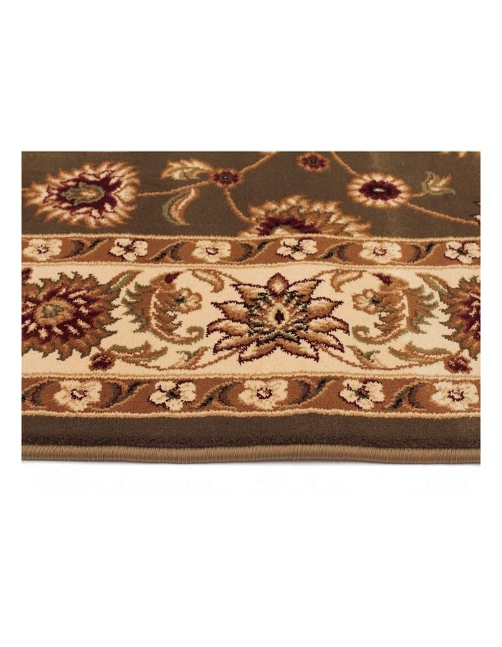 Sydney Collection Classic Rug Green with Ivory Border image 4