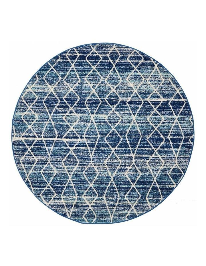 Evoke Culture Blue Transitional Round Rug image 1