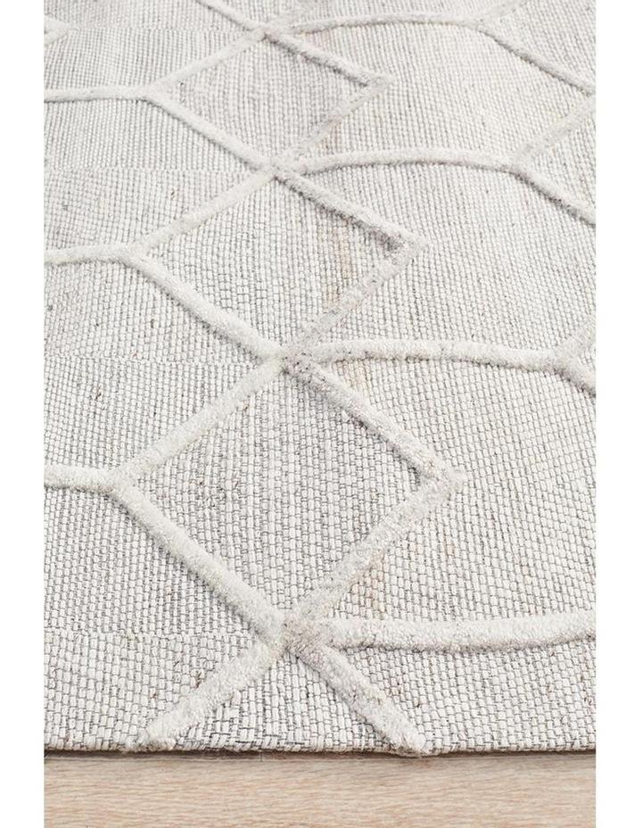 Visions Winter Grey Brush Modern Rug image 2