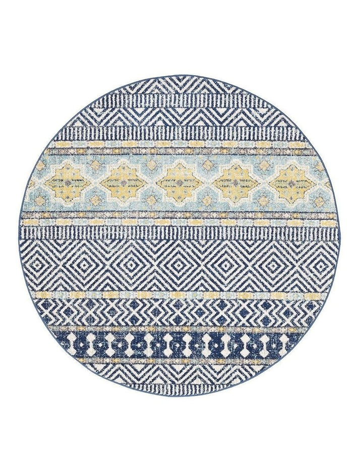 Oasis Sabrina Navy Tribal Round Rug image 1