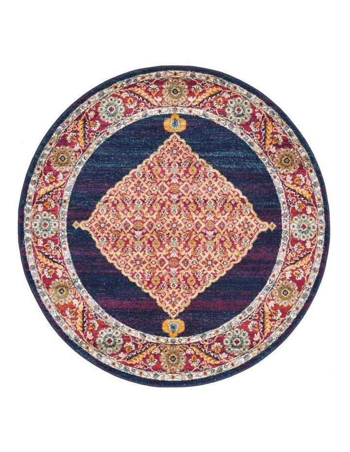 Century 966 Royal Blue Round Rug image 1