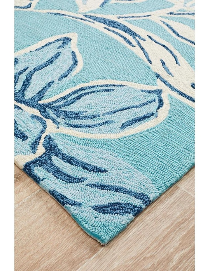 Copacabana Whimsical Blue Floral Indoor Outdoor Rug image 2