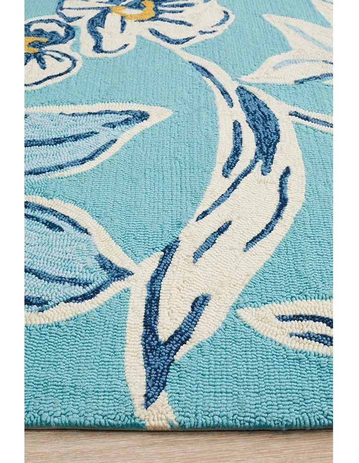 Copacabana Whimsical Blue Floral Indoor Outdoor Rug image 4
