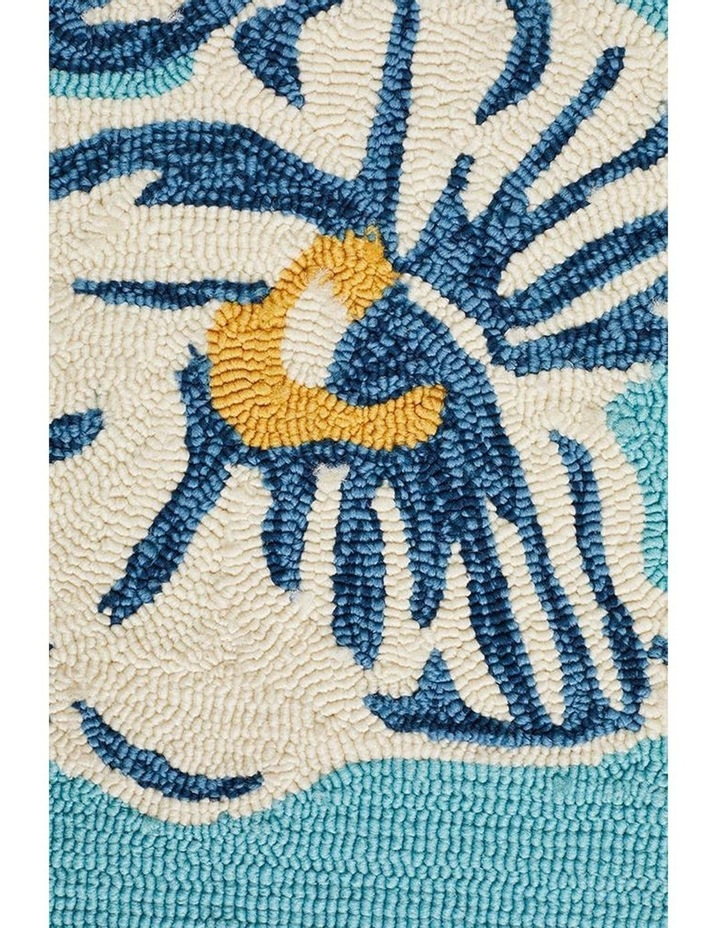 Copacabana Whimsical Blue Floral Indoor Outdoor Rug image 5