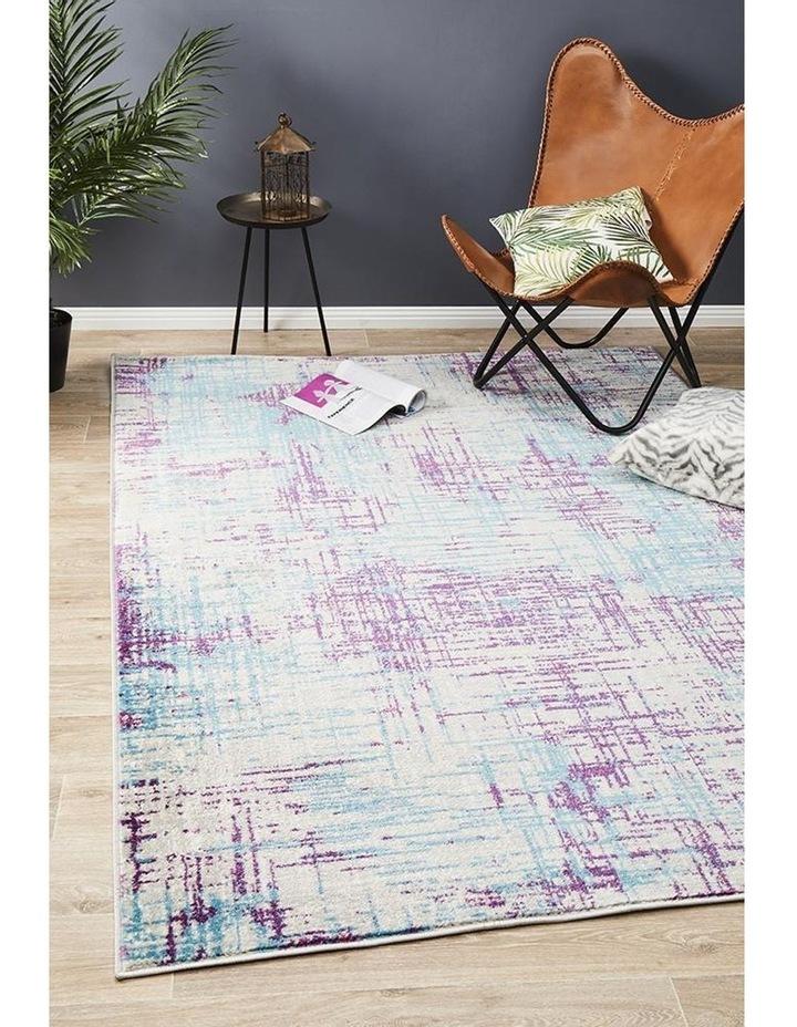 Skyler Abstract Rug Grey Blue Purple image 6