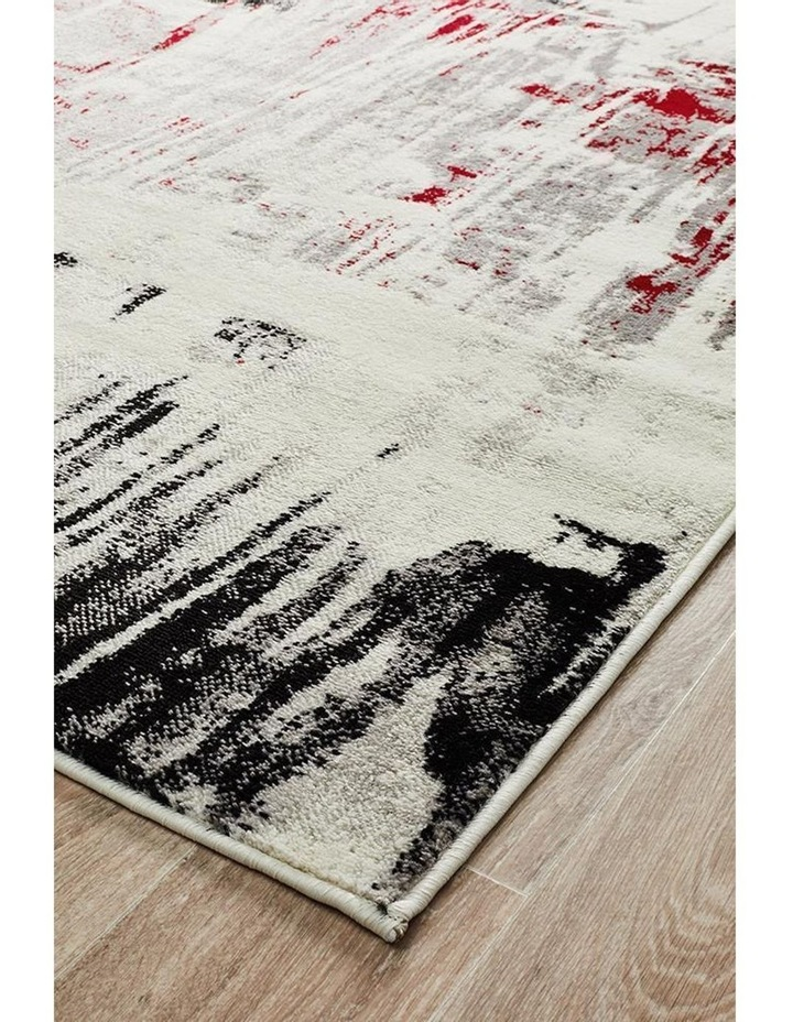 Lydia Abstract Rug Red Black White Grey image 2