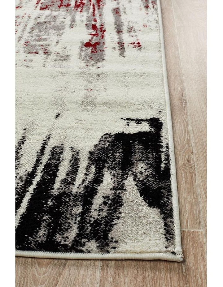 Lydia Abstract Rug Red Black White Grey image 3