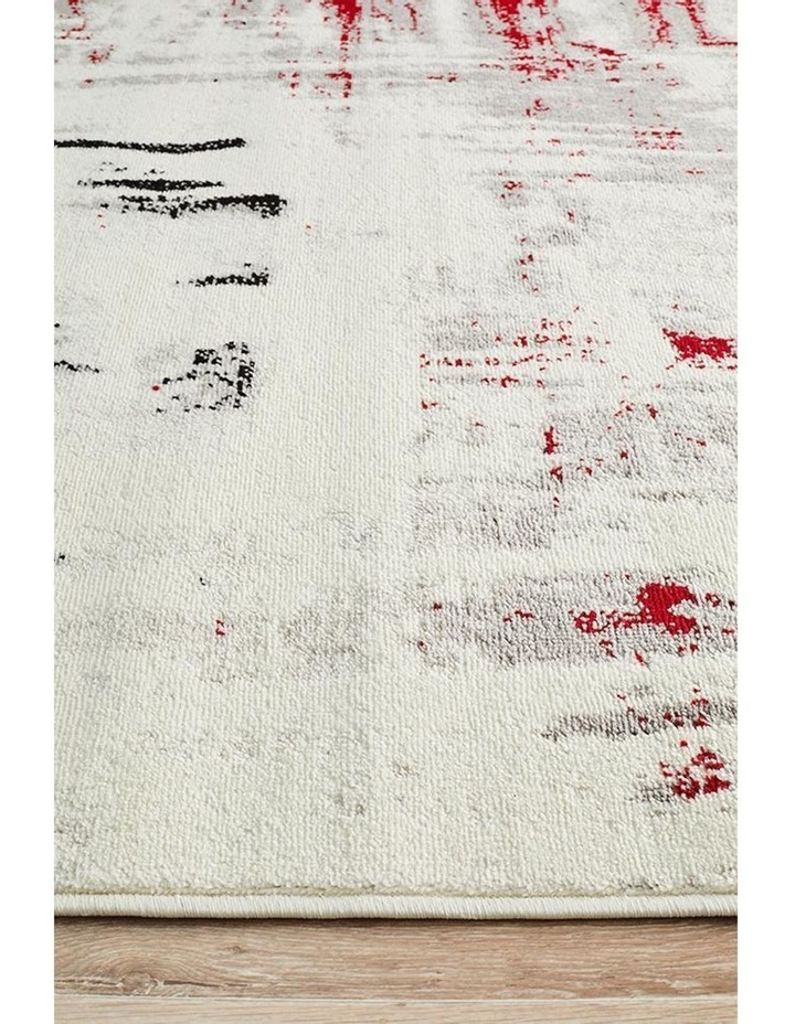 Lydia Abstract Rug Red Black White Grey image 4