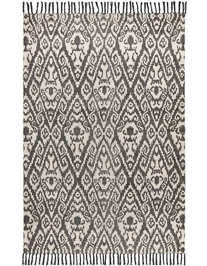 Zulu Totemic Convene Black Rug image 1