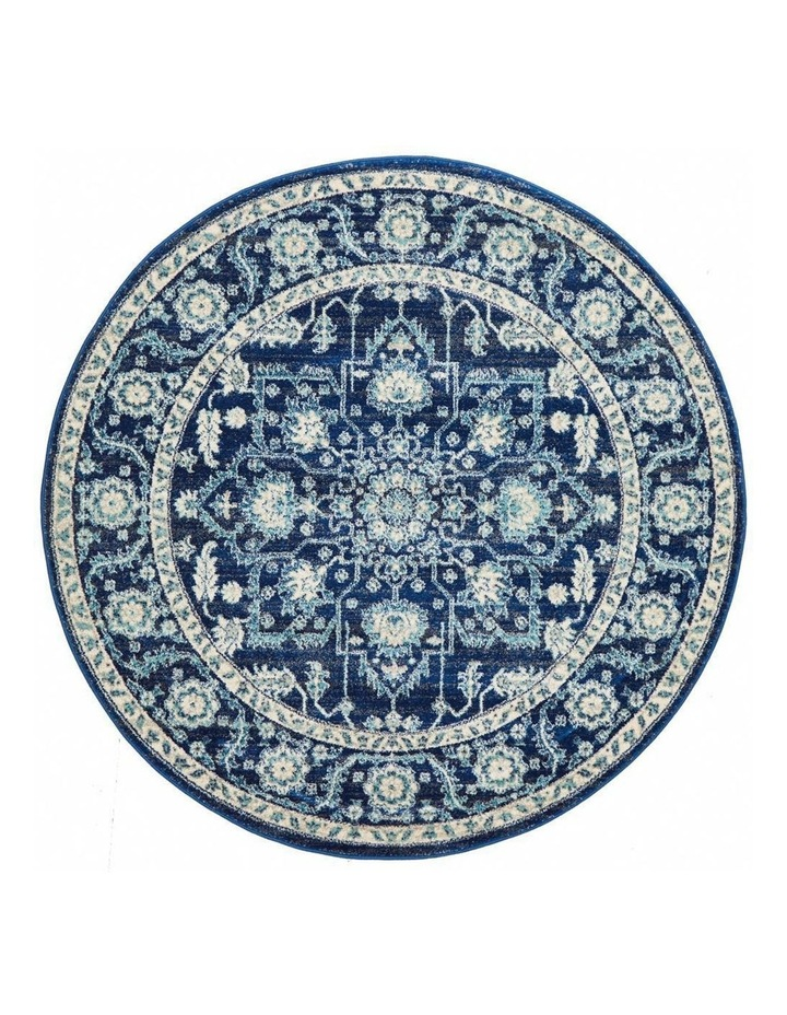 Evoke Release Navy Transitional Round Rug image 1