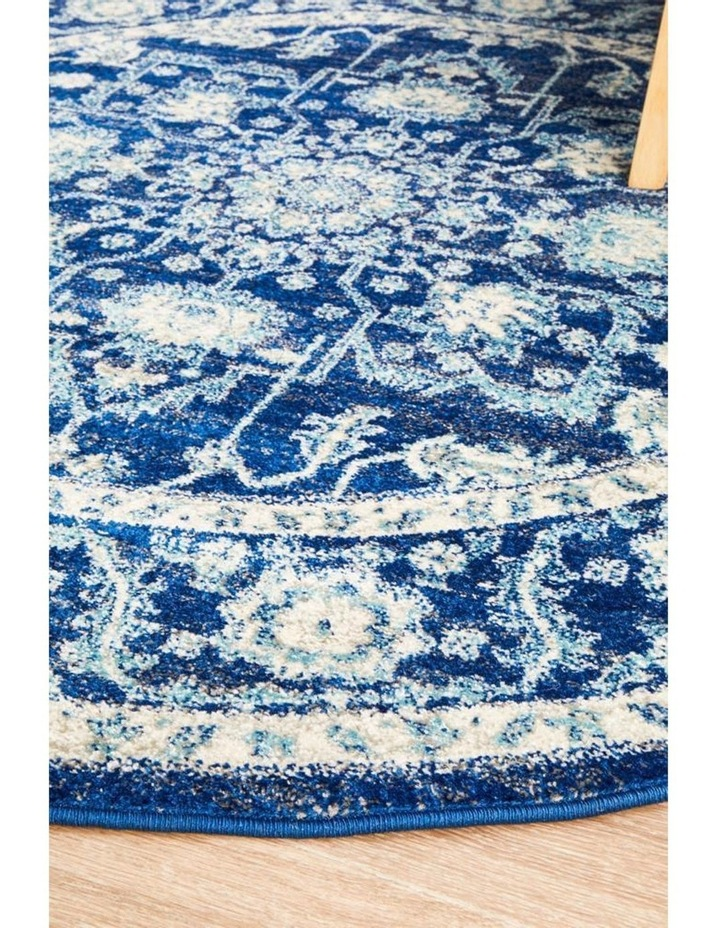 Evoke Release Navy Transitional Round Rug image 2