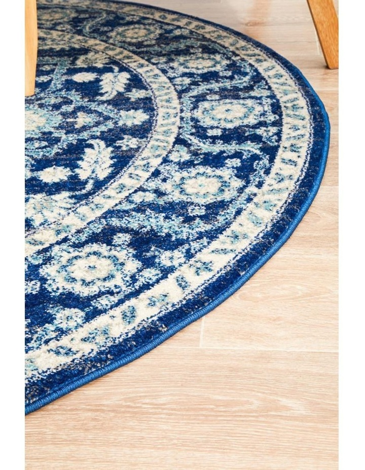 Evoke Release Navy Transitional Round Rug image 3