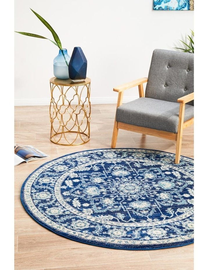 Evoke Release Navy Transitional Round Rug image 7
