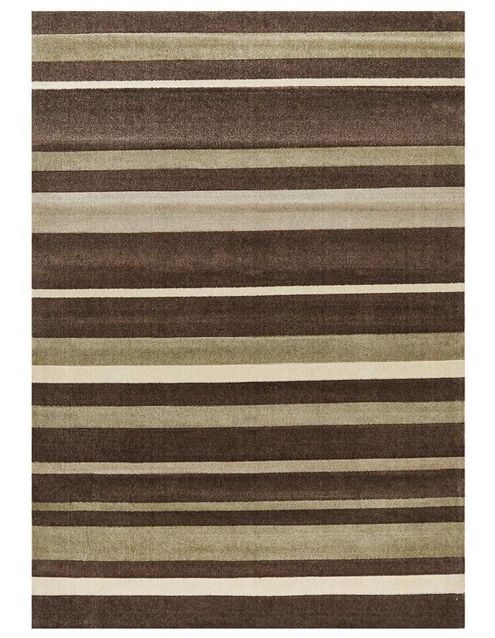 City Stylish Stripe Rug Brown Beige image 1