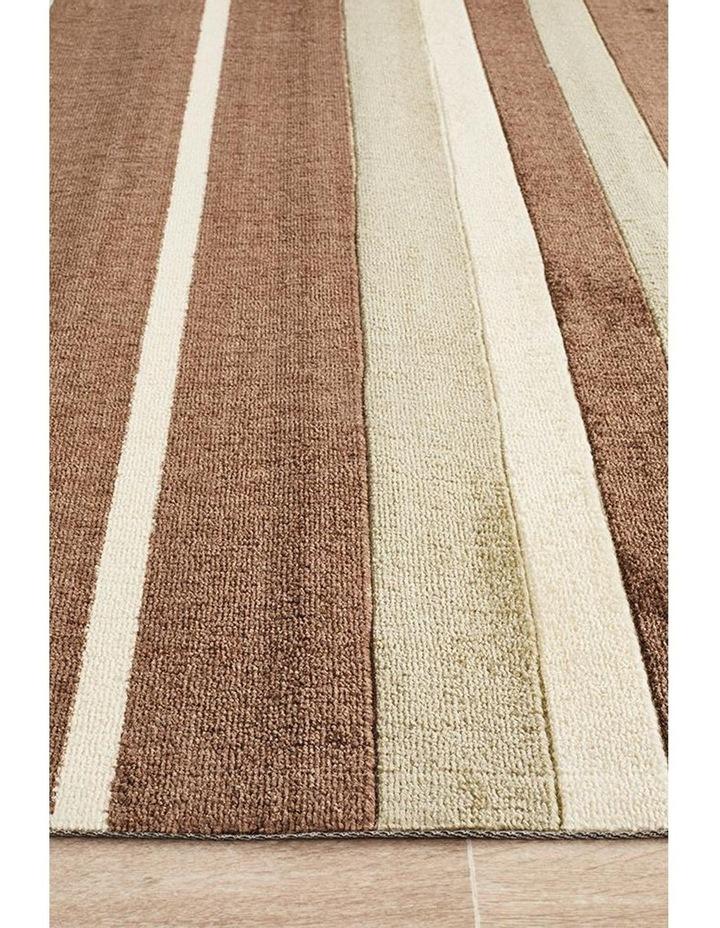 City Stylish Stripe Rug Brown Beige image 4