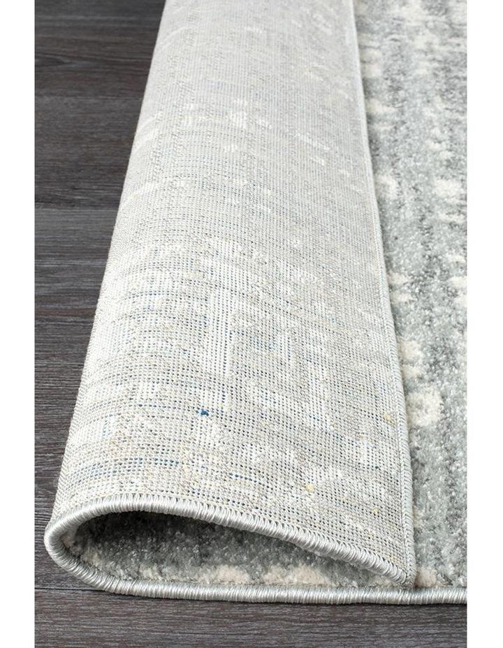 Mirage Ashley Abstract Modern Silver Grey Runner Rug image 2