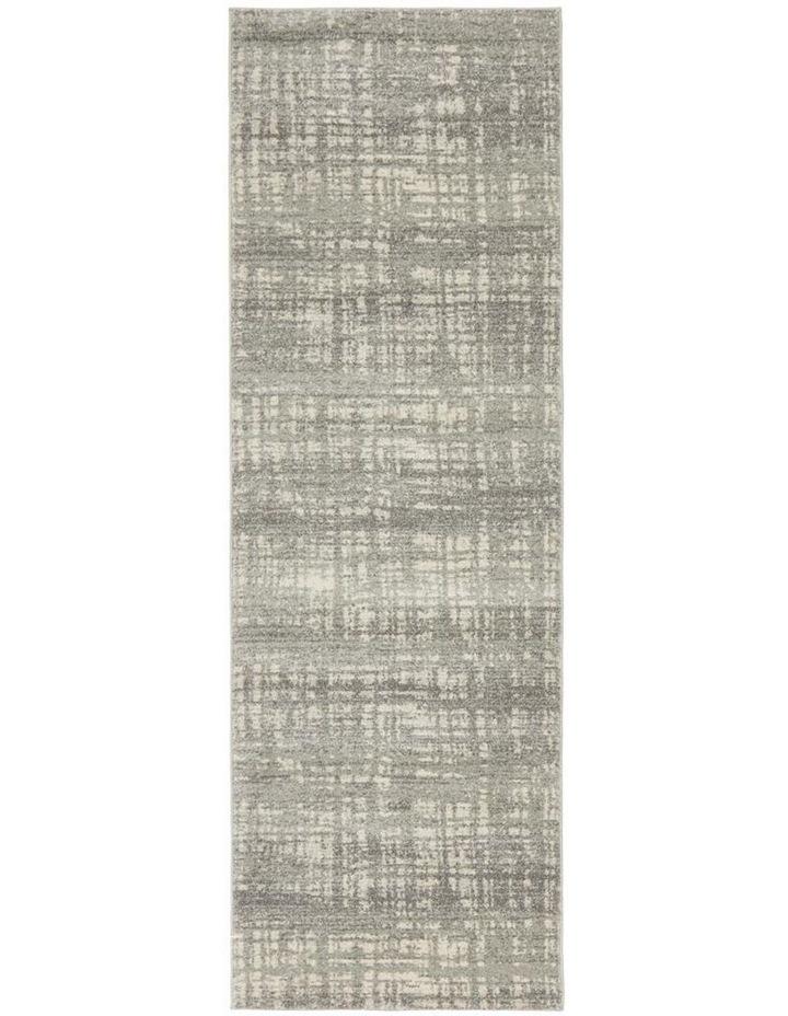 Mirage Ashley Abstract Modern Silver Grey Runner Rug image 4