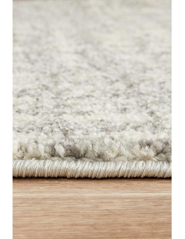 Mirage Ashley Abstract Modern Silver Grey Runner Rug image 6